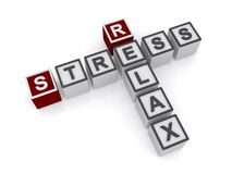 Stress and relax sign Stock Image