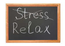 Stress and relax Royalty Free Stock Photo
