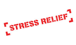 Stress Relief rubber stamp Royalty Free Stock Image