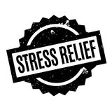 Stress Relief rubber stamp Stock Photo