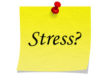 Stress reminder note Stock Image