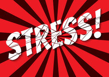 Stress. Retro styled banner with shattered stress word Stock Photo