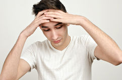 Stress, sadness, worry… Royalty Free Stock Photo