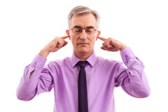 Without stress. Senior Business man without stress and worried Stock Image