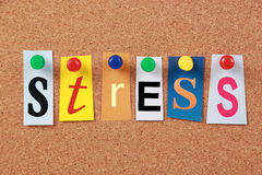 Stress Single Word Royalty Free Stock Images