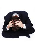 Stress Situation, Young Man With Hands Royalty Free Stock Photos