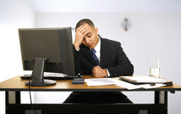 Stress And Still Working Stock Images