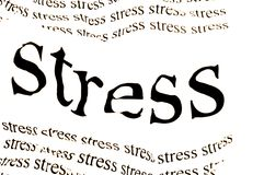 Stress stress stress. Conceptual background of stress in white background Stock Image