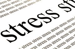 Stress stress stress. Conceptual background of stress in white background Royalty Free Stock Image