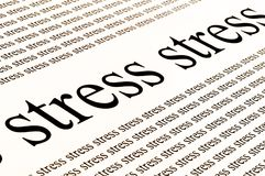 Stress stress stress. Conceptual background of stress in white background Royalty Free Stock Photos