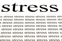 Stress stress stress. Conceptual background of stress in white background Stock Photos