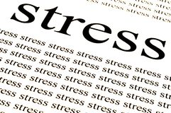 Stress stress stress. Conceptual background of stress in white background Stock Photography