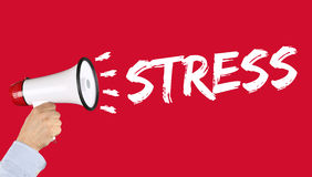 Stress stressed business concept burnout at work relaxed megapho Stock Photo