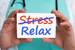 Stress stressed relax relaxed burnout ill illness healthy doctor Stock Photos