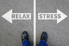 Stress stressed relax relaxed health businessman business concep Stock Images