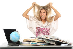 Stress from studing Stock Image