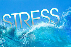 Stress text in ocean waves Stock Image