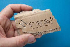 Stress from unemployment and poverty, concept royalty free stock photo