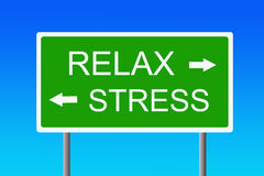 Stress versus relaxation Stock Images