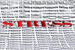 Stress vs failure. Conceptual text depicting fear of failure Stock Images
