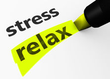 Stress Vs Relax Choice Concept Stock Photo