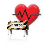 Stress Warning. Digital Illustration concept Stress Warnings on the Heart Royalty Free Stock Photography