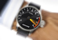 Stress watch. Wrist watch to measure the stress Stock Images