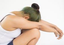 Stress woman Stock Image