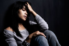stress woman young Στοκ φωτογραφίες με δικαίωμα ελεύθερης χρήσης