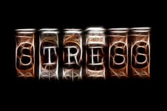 Stress word. Abstract stress word concept on black Stock Photos
