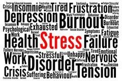Stress word cloud concept stock illustration