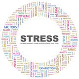 STRESS. Word cloud illustration. Tag cloud concept collage Royalty Free Stock Image