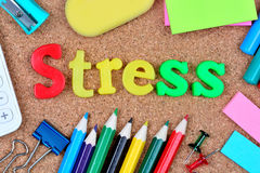 Stress word on cork background Stock Photo