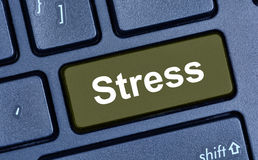 Stress word on keyboard button Royalty Free Stock Photos