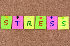 Stress word on notes Stock Photo