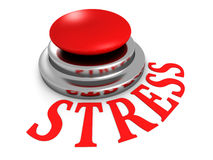 STRESS word red push button on white background Royalty Free Stock Photography
