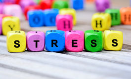 Stress word on table royalty free stock photo