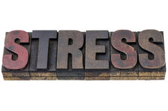 Stress word in wood type Royalty Free Stock Images