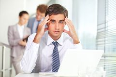 Stress of work Royalty Free Stock Photos