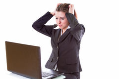 Stress at work? Royalty Free Stock Photo
