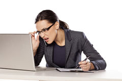 Stress at work Royalty Free Stock Photography