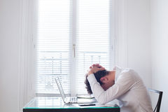 Stress at work Royalty Free Stock Photo