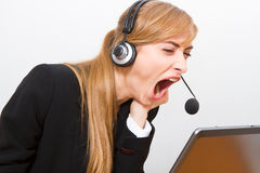 Stress at work. yawn Stock Photography