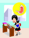 The Stress from workload cause gastritis. Stock Image