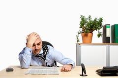 Stressad affärsman arkivbild