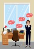 Stressad chef på kontoret Royaltyfria Bilder