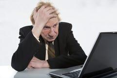 Stressad affärsman Arkivfoto