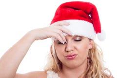 Stressad julkvinna arkivbilder