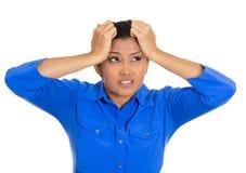 Stressad kvinna Fotografering för Bildbyråer