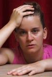 Stressconcept desesperado da mulher imagens de stock